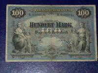 GERMANY - BAYERISH-100 MARK  BANKNOTE 1900 - MUNICH-VERY FINE
