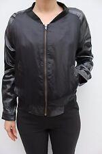 Muubaa Mudgrey Naiden Fitted Military Leather Biker Blazer Jacket 12 40