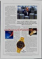 ROLEX WATCHES (Diving) - Vintage (NOT Repro!) ADVERTISEMENT. Free UK Postage