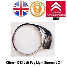 Citroen DS3 Fog Light Surround Trim Left Side Bumper Chrome Genuine New 7453C9
