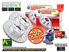 For SUBARU Impreza 2.0i, 2.0i-L, 2.0i-S 286mm REAR Slotted Drilled Rotors & Pads