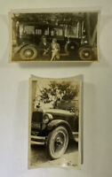 Vintage Black And White Photographs Of A Car Set Of Two (2) SHIPS FREE USA