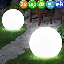 2 x LED SOLAR Kugel Leuchten Ø30cm Außenleuchten 4xLED Lampen Garten Nacht Licht
