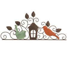 Birds & House Metal & Wood Wall Decor