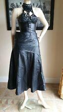 Ladies real leather skirt