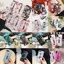 Flower Marble Pattern Ring Stand Holder Case Cover For iPhone XS Max XR X 8 7 6+