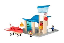 Brio Airport with Control Tower Wooden train Blue