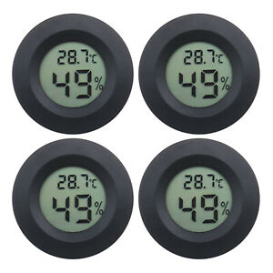 4x Mini LCD Digital Thermometer Hygrometer Temperature Humidity Meter Gauge