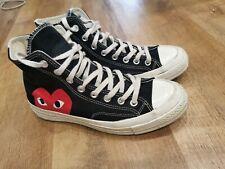 Converse x Comme des Garcons High Top Sneakers UK 7-Noir