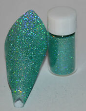 Exclusive Bizzy Nails Cosmetic Micro Glitter Holographic Aqua 0.1mm Acrylic/Gel
