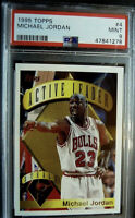 1995 -96 MICHAEL JORDAN TOPPS #4 Active Leaders Steals 🔥 Chicago Bulls 🔥 MVP