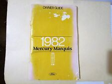 Ford FPS-365-11582-B 1982 82 Mercury Marquis Owners Guide Manual