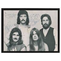 Vintage Black Sabbath w/Ozzy Osbourne Signed Band Photo FRAMED & Ready To Hang