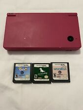 Nintendo DSi Console Pink TWL-001 With 3 Games, OEM Stylus No Charger