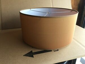 """Contemporary Fabric Drum Shape Lamp Shade 16"""" w x 8"""" ht Copper"""