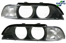 BMW E39 97-00 Clear Corner Signal Light Lens Cover 540i 528i in Pair