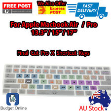 "Final Cut Pro X Keyboard Cover Protector for Apple MacBook Pro Air 13"" 15"" 17"