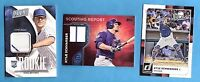 KRIS BRYANT & KYLE SCHWARBER RC & GAME USED JERSEY CARD DONRUSS ROOKIE CUBS