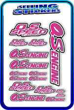 RC AIRCRAFT STICKERS HELI OS ENGINES CAR BUGGY O.S SPEED NITRO PIPE PINK PURP W