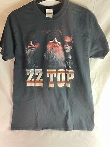 Zz Top 2015 Tour Band Concert Music T-Shirt Black Cotton Tee