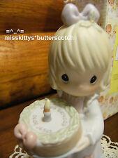 Precious Moments~272523~Happy Birthday Dear Jesus~Girl with Birthday Cake~sword