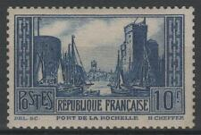 "FRANCE STAMP TIMBRE YVERT N° 261 "" PORT LA ROCHELLE 10F BLEU "" NEUF xx LUXE A343"