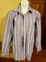 Bugatchi Uomo Button Front Shirt Mens Size Large  Long Sleeve