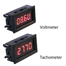 2 in 1 LED Tachometer Gauge Digital RPM Voltmeter for Auto Motor Rotating Speed
