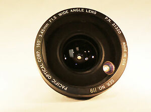PACIFIC OPTICAL CORP. 165˚ 3.45mm F1.5 WIDE ANGLE LENS MODEL#720
