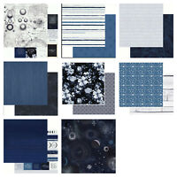 "Kaisercraft Stargazer 12x12"" - Double Sided Craft Scrapbooking Paper Space Blue"