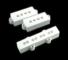 Guitar Parts GUITARHEADS PICKUPS - P & J BASS - Pickup SET of 2 - WHITE