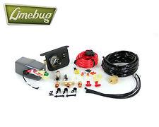 """Calibre 2"""" Kit de conexión de alimentación y tanque/, Negro, 200 PSI, 30 Amp Air ride suspensión"""