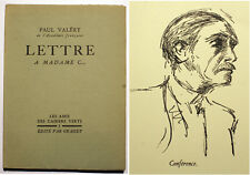VALERY/LETTRE A MADAME C.../CAHIERS VERTS/N°1/ED GRASSET/1928