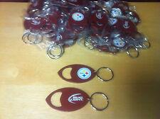 Bud Light NFL Pittsburgh Steelers Metal Bottle Opener Keyring New - Lot of 50F/S