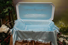"Newnak's Medium 24"" Deluxe Pet Casket White/Blue"