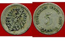 ALLEMAGNE 5 pfennig  1875 A  ( bis )