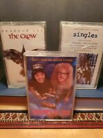 3 soundtrack lot Singles / Wayne's World / The Crow  Cassette Tape VG Pearl Jam