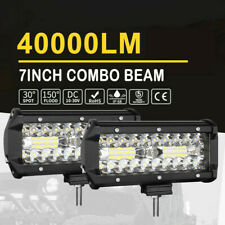 2x 7inch 240W CREE LED Work Light Bar Spot Flood Combo Offroad Auto Driving Lamp