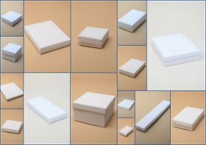 Jewellery Boxes White Card Flocked Pad Gift  Large Letter new  2cm Thickness