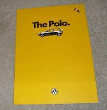 Volkswagen VW Polo Brochure 1985 - 1.0 C - 1.3 GL - 1.3 C Formel E