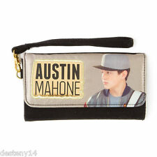 Austin Mahone Girls Black & Gold Tri Fold Wristlet Mahomie AM Wallet One Size