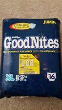 XL GOODNITES 85-125 VINTAGE RARE BEST EVER MADE AB/DL 2002