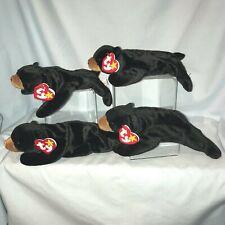"Ty Beanie Babies Lot of 4 Blackie #4011 Black Bear 1993 Retired 9""  3+ $19.99"