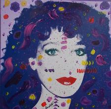 Kino Mistral, Hommage a Andy Warhol Technique mixte sur panneau  Marisa Berenson