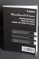Canon PowerShot G1X Mark II Camera Instruction Book / Manual / User Guide