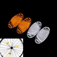 1 par Radios Bicicleta Reflector luz Advertencia llanta de bicicleta reflectante