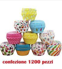 Set 1200 Pezzi Pirottini di Carta Dolci Cupcakes Muffin Biscotti Fantasy 9cm moc