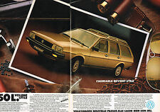 PUBLICITE ADVERTISING 065  1982  VOLKSWAGEN   la PASSAT  ( 2pages)