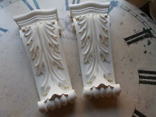 FOUR ORNATE CORBELS FRENCH STYLE FURNITURE FIRE PLACE WHITE RESIN 2 Pairs