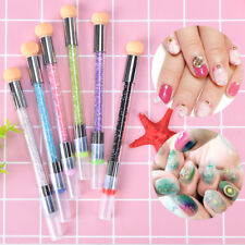 dual-ended 2-in-1 nail art stamper sponge head nail brush blooming uv gel pen LR